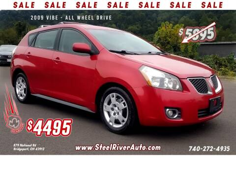 2009 Pontiac Vibe for sale at Steel River Auto in Bridgeport OH