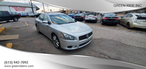 2011 Nissan Maxima for sale at Green Ride Inc in Nashville TN
