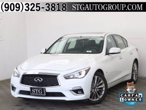 2019 Infiniti Q50 for sale at STG Auto Group in Montclair CA
