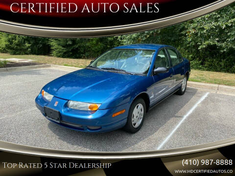 2002 Saturn S-Series for sale at CERTIFIED AUTO SALES in Severn MD