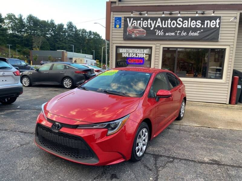 2020 Toyota Corolla for sale at Variety Auto Sales in Worcester MA