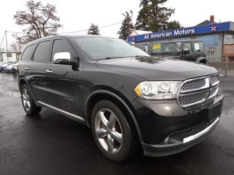 2011 Dodge Durango for sale at All American Motors in Tacoma WA