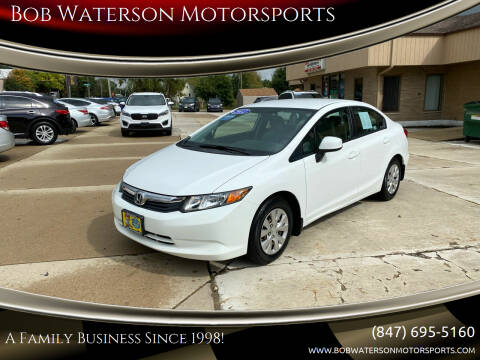 2012 Honda Civic for sale at Bob Waterson Motorsports in South Elgin IL