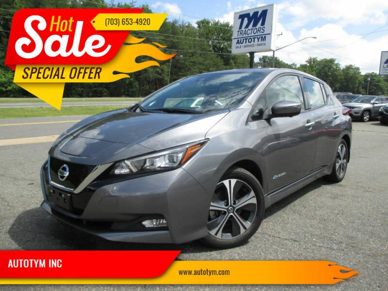 2018 Nissan LEAF for sale at AUTOTYM INC in Fredericksburg VA