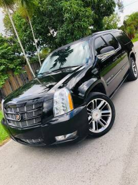 2013 Cadillac Escalade ESV for sale at IRON CARS in Hollywood FL