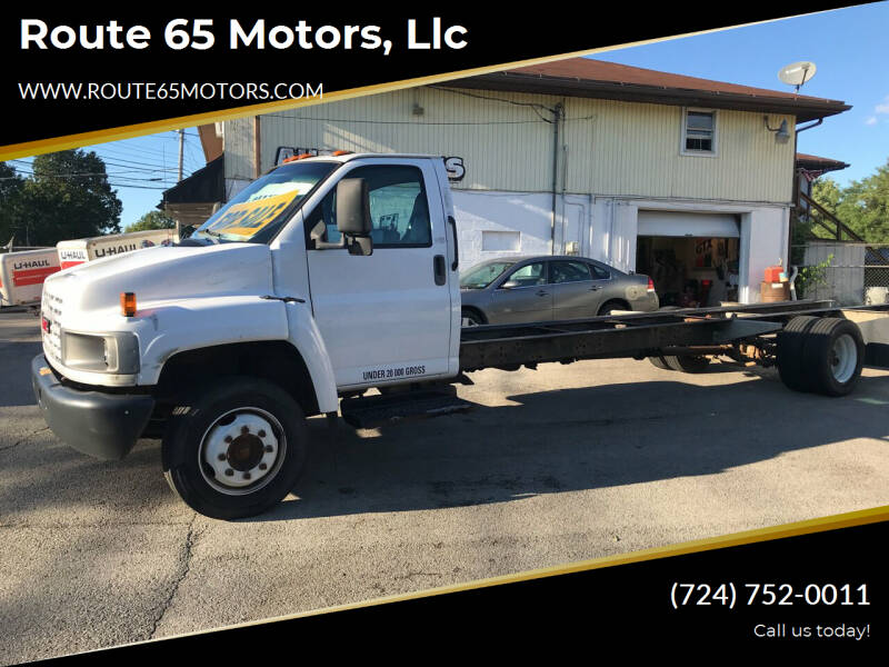 2006 GMC C5500 for sale at Route 65 Motors, llc in Ellwood City PA