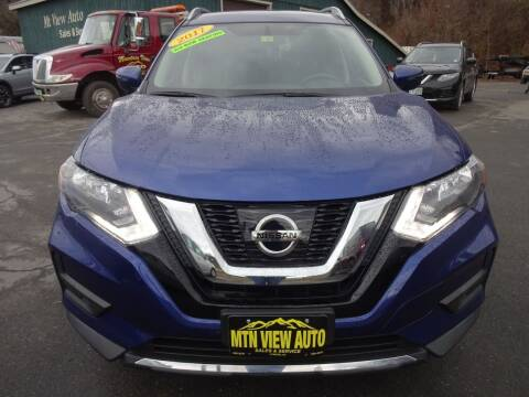 2017 Nissan Rogue for sale at MOUNTAIN VIEW AUTO in Lyndonville VT