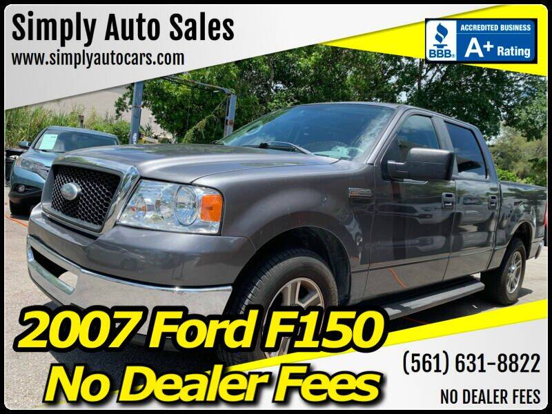 2007 Ford F-150 for sale at Simply Auto Sales in Palm Beach Gardens FL