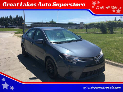 2016 Toyota Corolla for sale at Great Lakes Auto Superstore in Pontiac MI