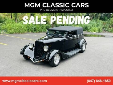 1933 Ford Custom for sale at MGM CLASSIC CARS-New Arrivals in Addison IL