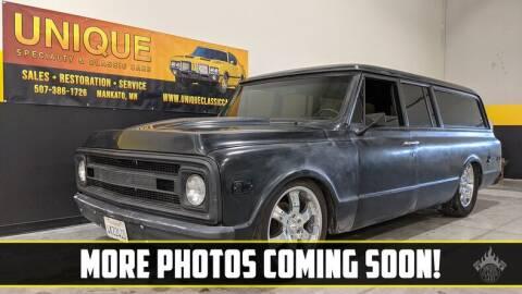 1971 Chevrolet Suburban for sale at UNIQUE SPECIALTY & CLASSICS in Mankato MN