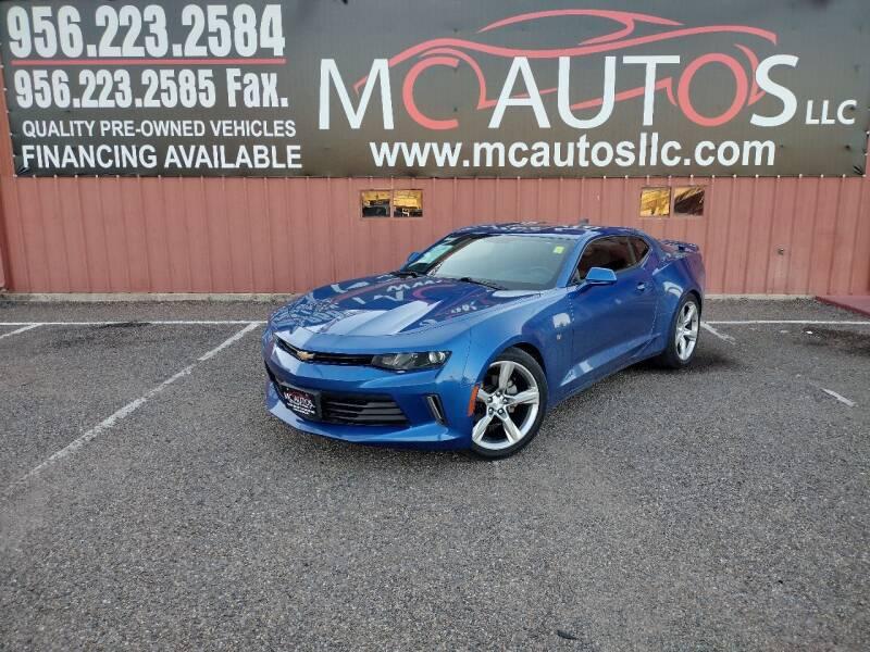 2016 Chevrolet Camaro for sale at MC Autos LLC in Pharr TX