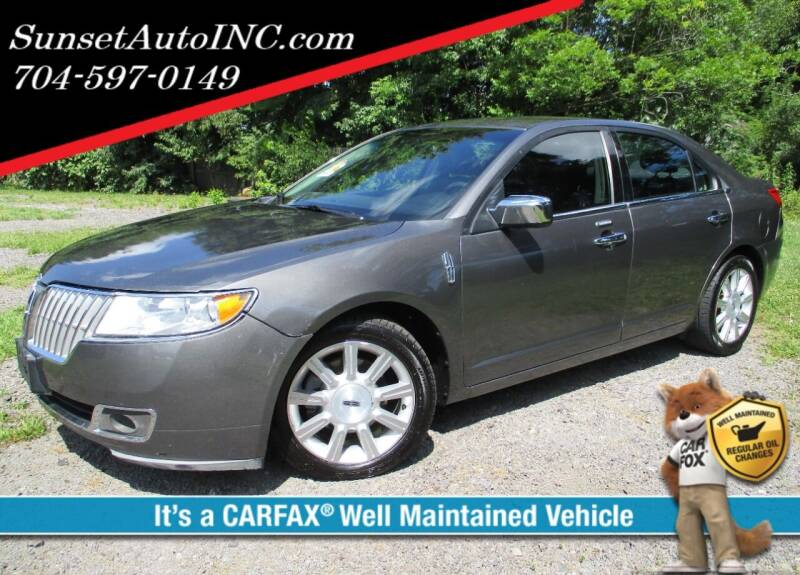 2011 Lincoln MKZ for sale at Sunset Auto in Charlotte NC