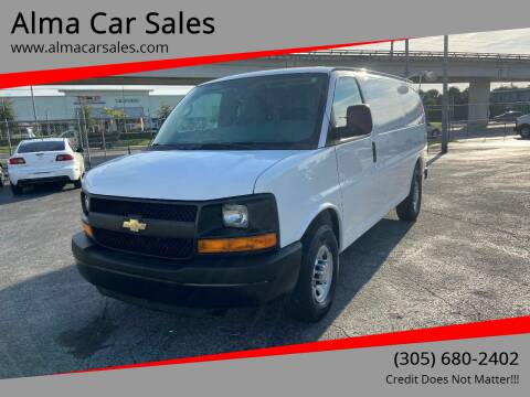 2012 Chevrolet Express Cargo for sale at Alma Car Sales in Miami FL