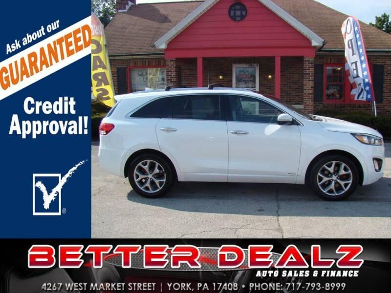 2016 Kia Sorento for sale at Better Dealz Auto Sales & Finance in York PA
