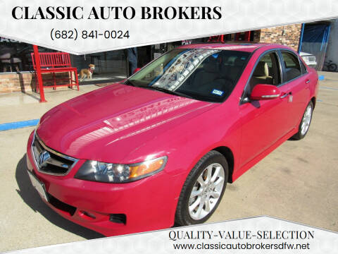 2007 Acura TSX for sale at Classic Auto Brokers in Haltom City TX