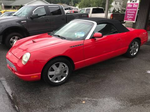 2002 Ford Thunderbird for sale at TNT Auto Sales in Bangor PA