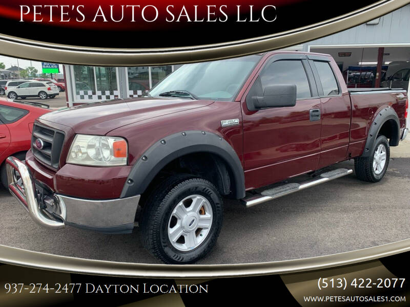 2005 Ford F-150 for sale at PETE'S AUTO SALES LLC - Dayton in Dayton OH
