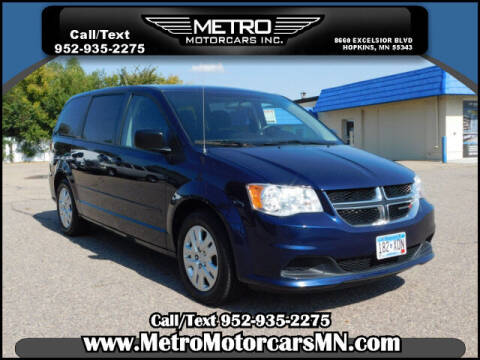 2017 Dodge Grand Caravan for sale at Metro Motorcars Inc in Hopkins MN