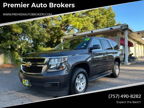 2017 Chevrolet Tahoe for sale at Premier Auto Brokers in Virginia Beach VA