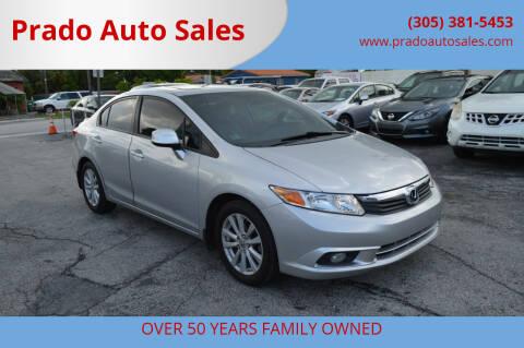 2012 Honda Civic for sale at Prado Auto Sales in Miami FL