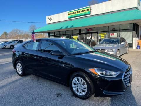 2018 Hyundai Elantra for sale at Action Auto Specialist in Norfolk VA