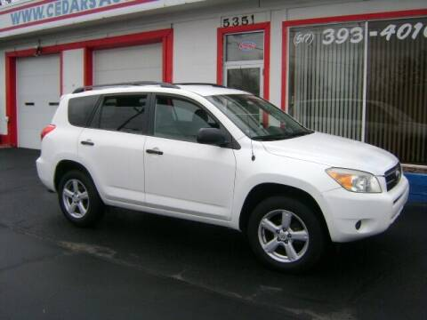 2007 Toyota RAV4 for sale at Cedar Auto Sales in Lansing MI