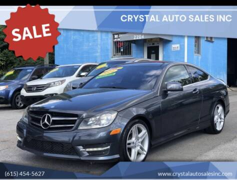 2014 Mercedes-Benz C-Class for sale at Crystal Auto Sales Inc in Nashville TN