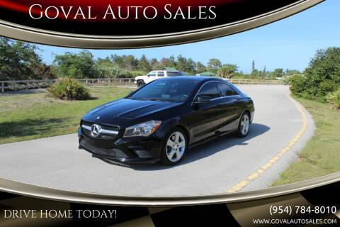 2016 Mercedes-Benz CLA for sale at Goval Auto Sales in Pompano Beach FL