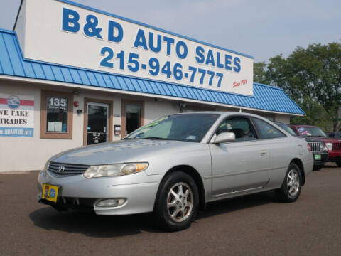2002 Toyota Camry Solara for sale at B & D Auto Sales Inc. in Fairless Hills PA