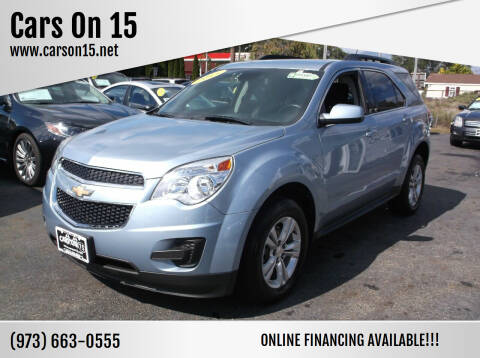 2015 Chevrolet Equinox for sale at Cars On 15 in Lake Hopatcong NJ