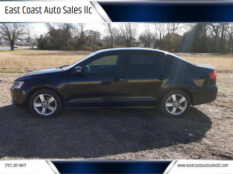 2012 Volkswagen Jetta for sale at East Coast Auto Sales llc in Virginia Beach VA