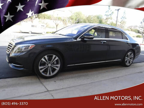 2016 Mercedes-Benz S-Class for sale at Allen Motors, Inc. in Thousand Oaks CA