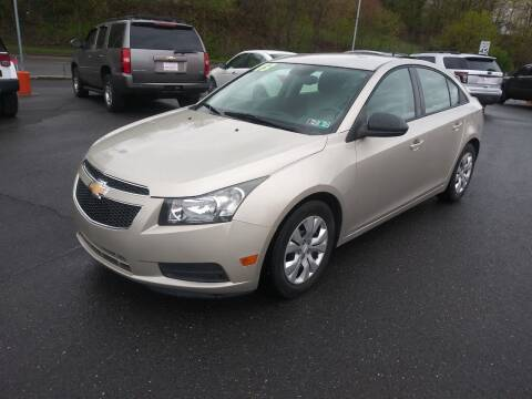 2013 Chevrolet Cruze for sale at Mulligan's Auto Exchange LLC in Paxinos PA
