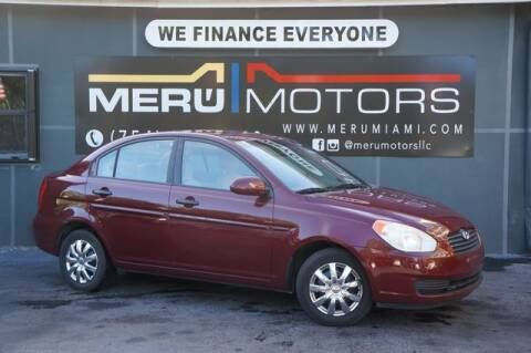 2008 Hyundai Accent for sale at Meru Motors in Hollywood FL