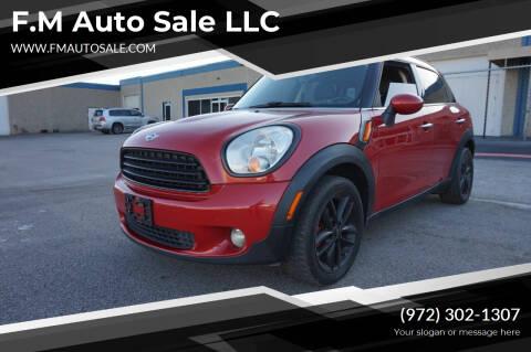 2014 MINI Countryman for sale at F.M Auto Sale LLC in Dallas TX