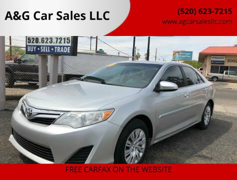 2013 Toyota Camry for sale at A&G Car Sales  LLC in Tucson AZ