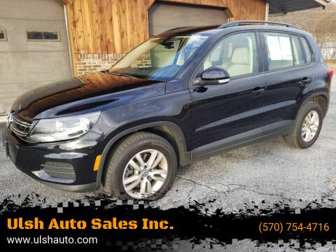 2017 Volkswagen Tiguan for sale at Ulsh Auto Sales Inc. in Summit Station PA