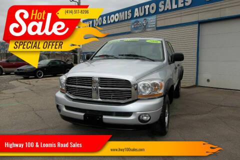 2006 Dodge Ram Pickup 1500 for sale at Highway 100 & Loomis Road Sales in Franklin WI