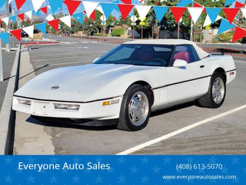 1989 Chevrolet Corvette for sale at Everyone Auto Sales in Santa Clara CA