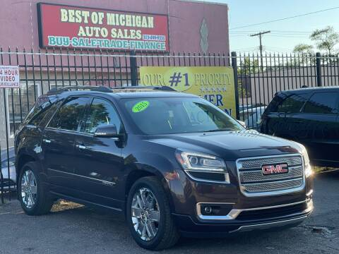 2015 GMC Acadia for sale at Best of Michigan Auto Sales in Detroit MI