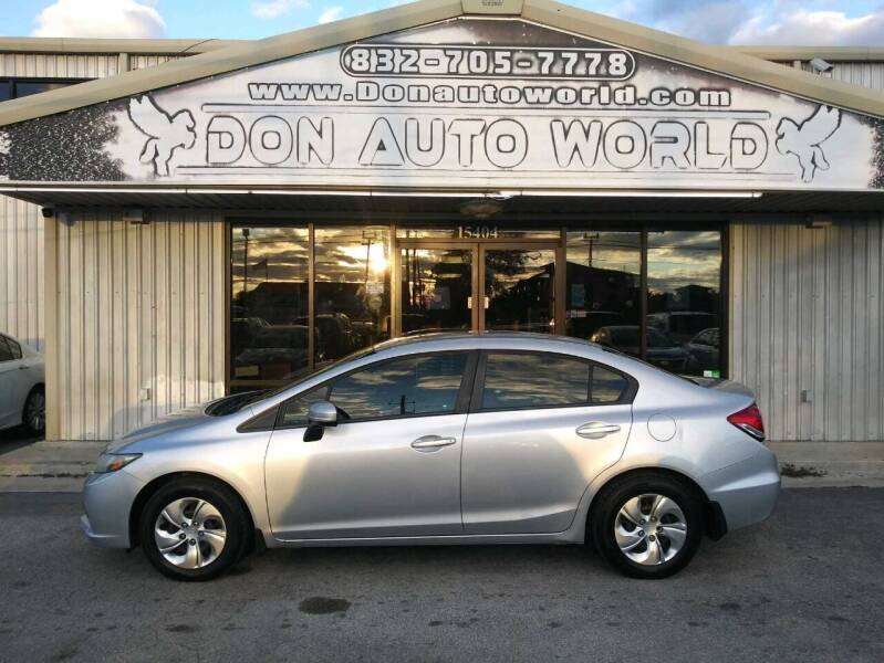 2014 Honda Civic for sale at Don Auto World in Houston TX