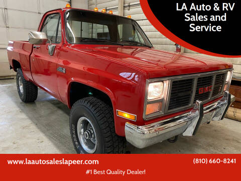 1986 GMC C/K 1500 Series for sale at LA Auto & RV Sales and Service in Lapeer MI
