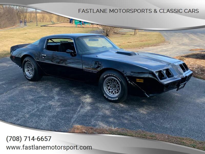 1979 Pontiac Firebird Trans Am for sale at Fastlane Motorsports & Classic Cars in Addison IL