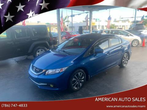 2015 Honda Civic for sale at American Auto Sales in Hialeah FL