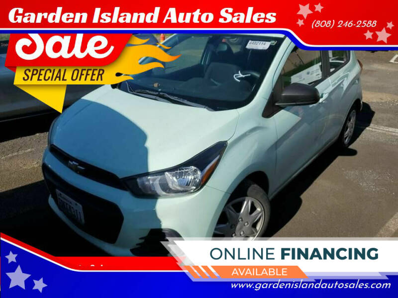 2017 Chevrolet Spark for sale at Garden Island Auto Sales in Lihue HI