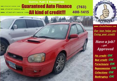 2005 Subaru Impreza for sale at Capital Fleet  & Remarketing  Auto Finance in Columbia Heights MN