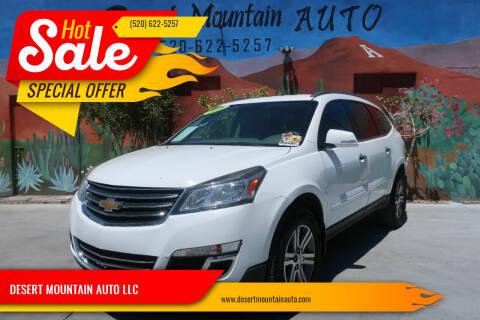 2016 Chevrolet Traverse for sale at DESERT MOUNTAIN AUTO LLC in Tucson AZ