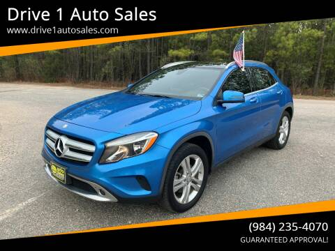 2016 Mercedes-Benz GLA for sale at Drive 1 Auto Sales in Wake Forest NC