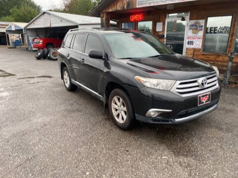 2012 Toyota Highlander for sale at LEE AUTO SALES in McAlester OK
